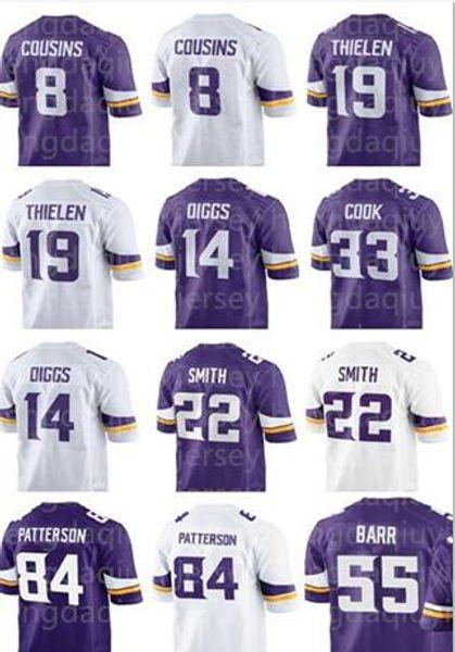 78bcf44a 2018 Minnesota Vikings 8 Kirk Cousins 19 Adam Thielen Jersey Men 22  Harrison Smith 14 Stefon Diggs 55 Anthony Barr 33 Cook Women Youth Kids  From ...