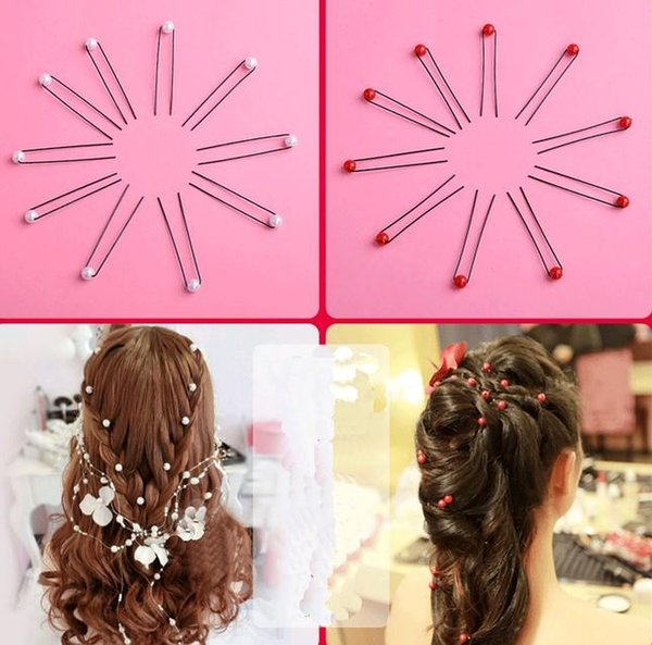 Popular Bridal Hair Accessories Bridal Faux Pearl U Pins Party Head Pieces Wedding Hair Decoration Beads Bridal Accessories