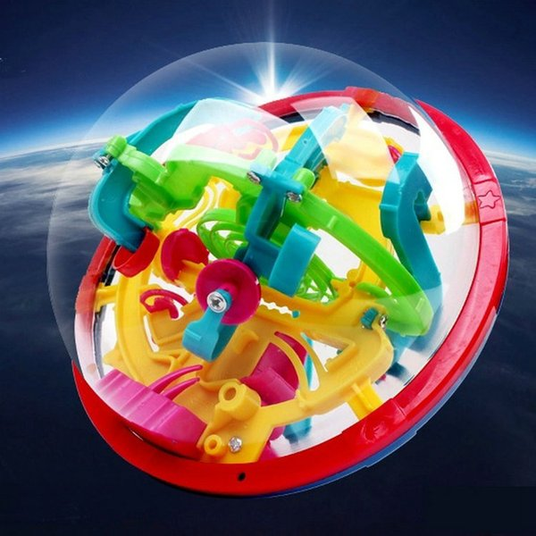 top popular Hot 100 Barriers Funny 3D Puzzle Maze Ball Labyrinth magical intellect ball Space Intellect orbit track Game Stages Kids Toy Gift 2019