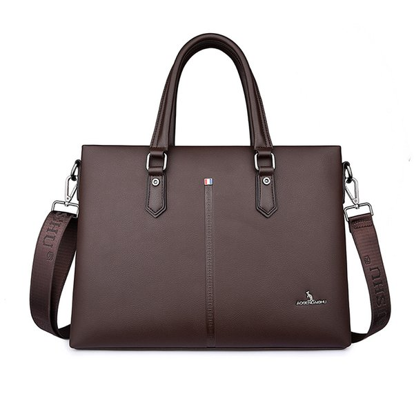Fashion Vintage High Quality Business Handbag Men Briefcase Bag Pu Leather Black Laptop Bag Office Large Capacity Briefcase