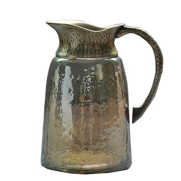 100% pure copper Ice Tea Jug Heat-resistant Glass Denmark Water Pot Coffee Milk Kettle Bottle Decoration Homestia