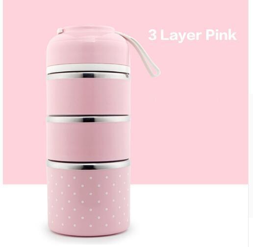 분홍색 3 층