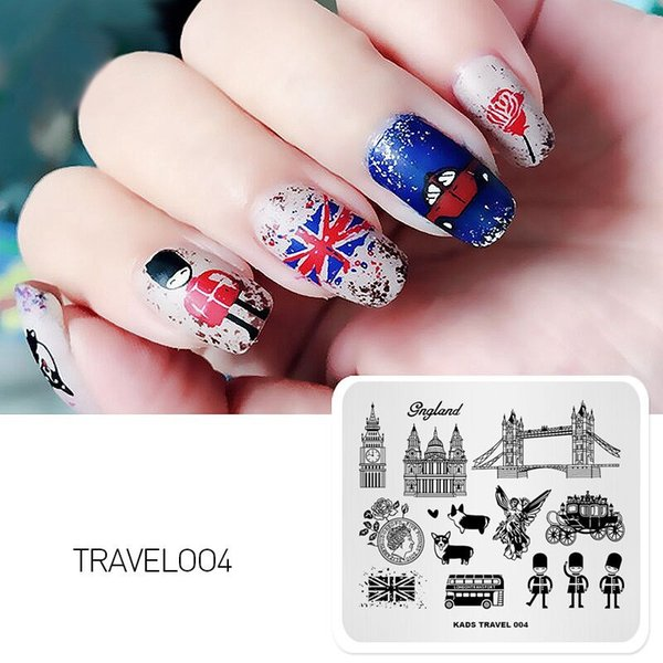 New Arrival Travel Design Cartoon Lovely Stamping Template Nail Decoration Stamp Template Stencil Polish Stamp Plate
