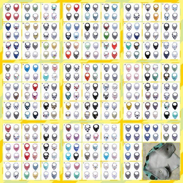 5set Cotton Double Layer Triangle Towel Baby Bib Infant Saliva Towel Cartoon Animal Bibs Bandana Burp Cloths Bebes YE037
