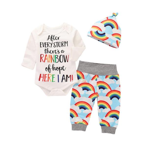 Yeni 2018 Bebek Giysileri Bebek Giyim Setleri Erkek Kız Uzun Kollu Giysileri Bodysuits Çocuk Giyim çocuğun Romper 8 takım / grup