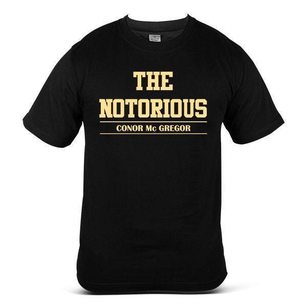 Conor McGregor combat d'arts martiaux boxe sport noir t-shirt pour hommes 8390-bk