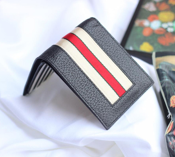Top quality designer men New short wallets for Men genuine leather Business card holders wallet with box 408827 W12xH10xD3cm