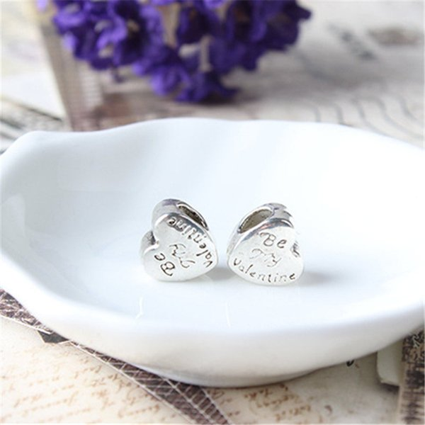 Promozione nuovo arrivo cuore per san valentino fascino per pandora bracciale catena del serpente o collana gioielli di moda branello allentato