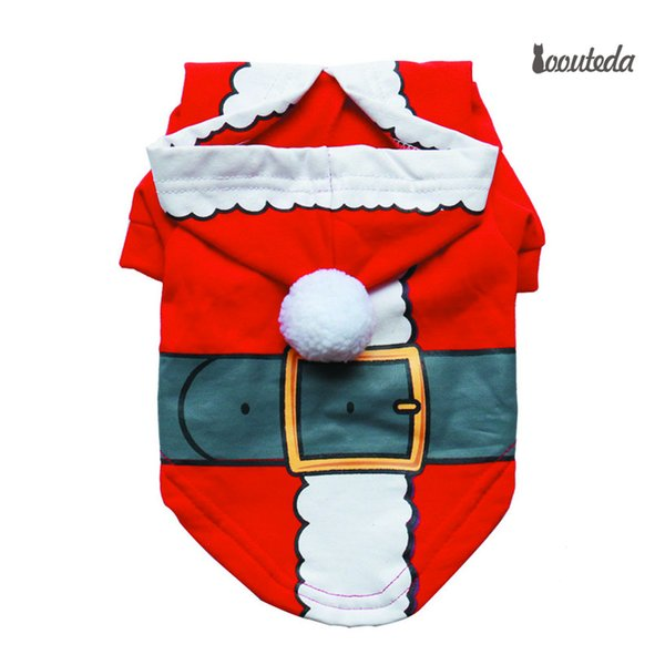 Christmas Dog Clothes Santa Claus Costume Winter Pet Clothing For Small Medium Dogs Puppy Coat Teddy Hoodie York Jacket Cat Suit