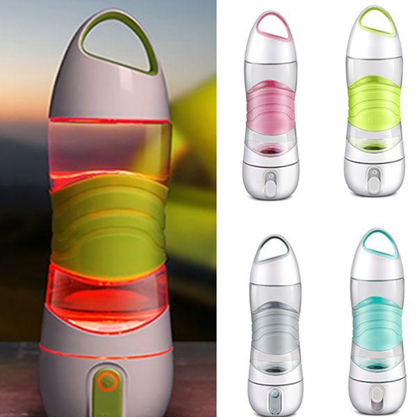 LED Light Smart Water Bottle traccia la presa d'acqua che si illumina per ricordarti di rimanere luci notturne Sos Emergency Sport Tazza Bollitore WX9-232