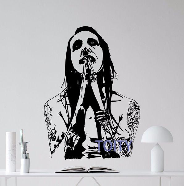 Marilyn Manson Wall Sticker Rock Music Vinyl Decal Room Art Decor Poster Removable Mural Figure Sticker