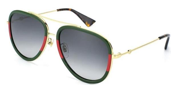 New Arrival Designer Pilot Sunglasses For Men Women Outdoorsman Sun Glasses Eyewear Gold Brown 58mm Glass Lenses 0062s