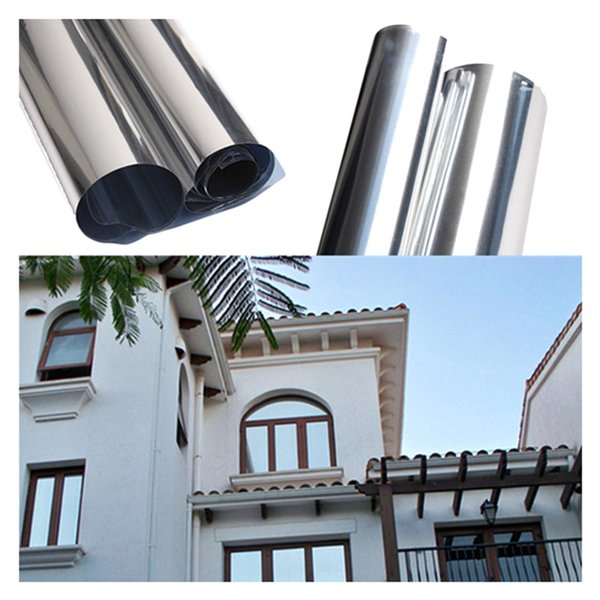 practical boutique 2m silver solar reflective window film paper insulation stickers one way mirror