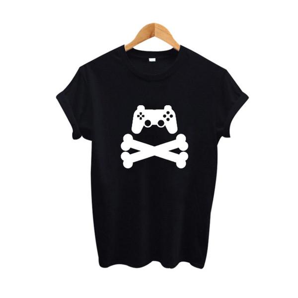Women's Tee Funny Cartoon Graphic Tee Shirt Women Game Lovers Tshirt Summer 2017 Hipster Street Punk Rock T Shirt