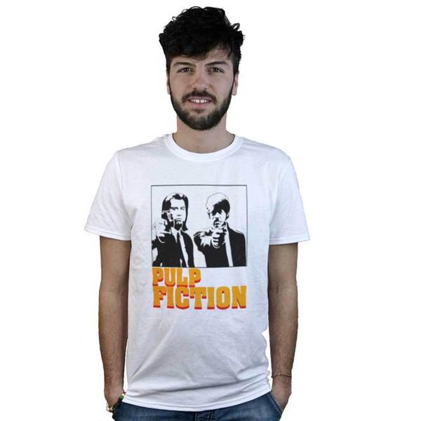 Tarantino Filme T-Shirt weiß T-Shirt Pulp Fiction Vincent vega /& Winnfield