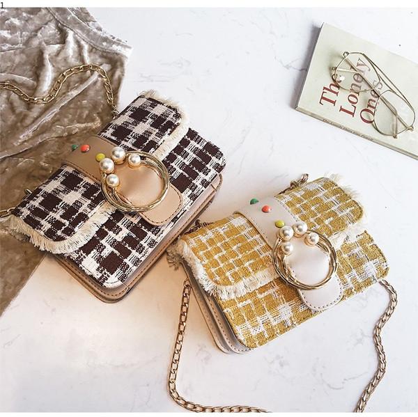 Causal Plaid Handbags High Quality Female Messenger Bag Chain Design Shoulder Vintage Ladies Hand Bag Crossbody Bags for Women