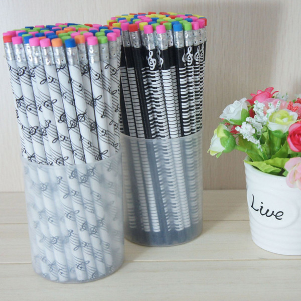 best selling Music Symbols Pencils Fashion Pencils Lovely Pencil Stationery For School With Colorfull Eraser