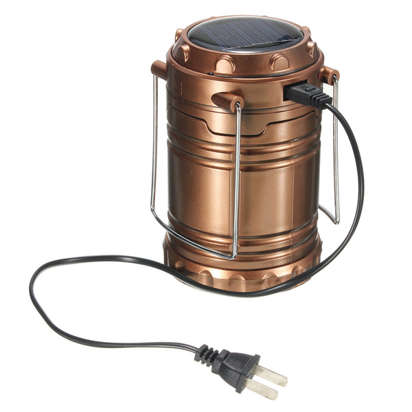 Outdoor Rechargeable Solar Panel Camping Lantern LED Tent Hanging Light