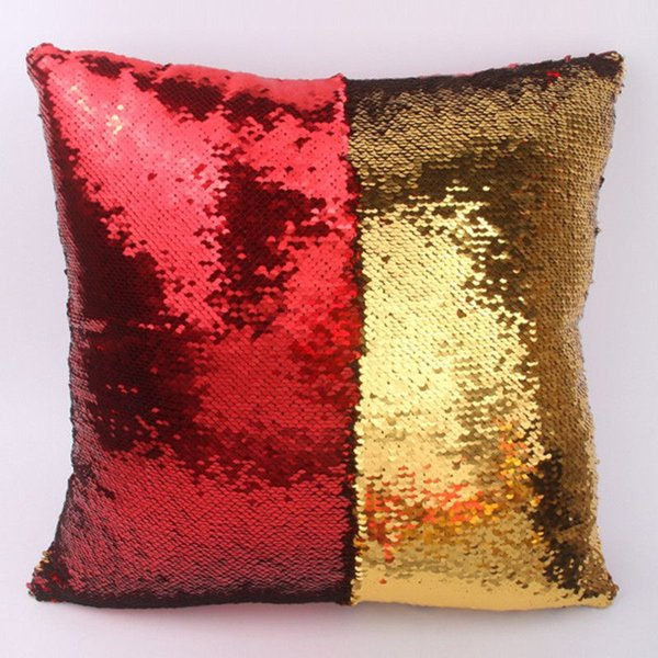 sequin throw pillows 40*40cm DIY Magic Letter Pillowcase Soft Double Color Glitter Sequins Throw Pillow Case Home Square Cushion Covers