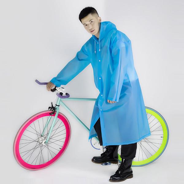 Impermeable EVA portátil con sombrero combinado impermeable para mujeres Hombre Impermeable transparente impermeable abrigo sin impermeable disponible 7 colores