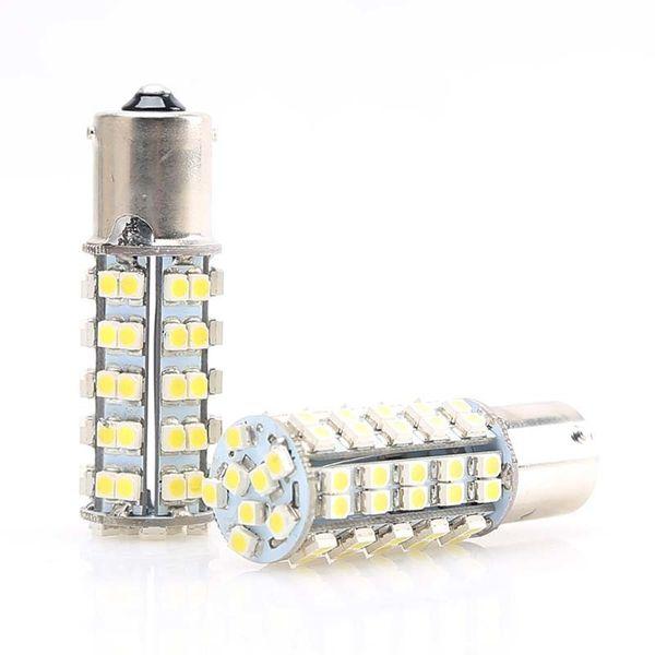 1156 1157 68SMD Back Up Reverse Light Bulb RV Trailer Interior 1141 7506 Super Bright License Plate Blub 12v Dc