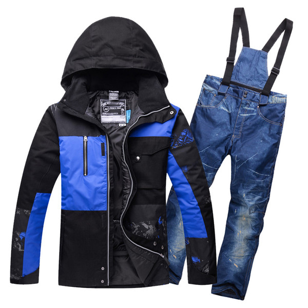 2018 Hot New Ski Suits for Men Ski Jacket Pants Waterproof Breathable Snowboarding Snow Suits Male Warm Outdoor Sports Sets