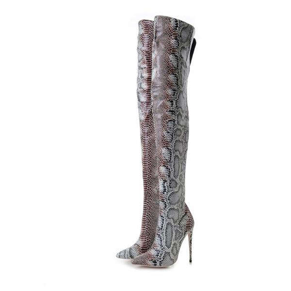 Vente chaude Designer Femmes Mode Chaussures À Talons Hauts Designer De Mode Femmes Chaussures Superstar Mode Bout Pointu Bottes Femmes Robe Chaussures Plus La Taille