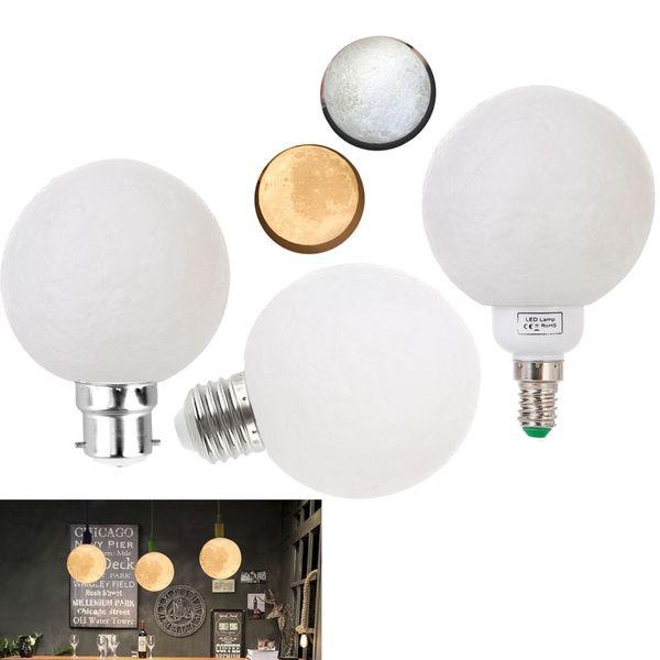3D Print Moon Lamp E27 E14 B22 3W Bedroom Bookcase Night Light Bulbs Home  Decor Creative Gift 220V 240V Incandescent Light Bulb Led Headlight Bulbs