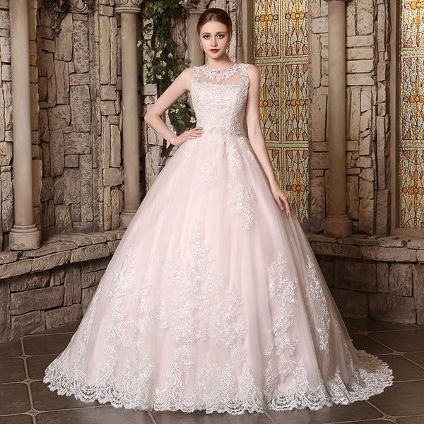 Real 2019 New designer Princess Ball Gown Wedding Dresses vintage lace cape Sleeves Court Train Lace Wedding Bride Dresses Robe de mariee