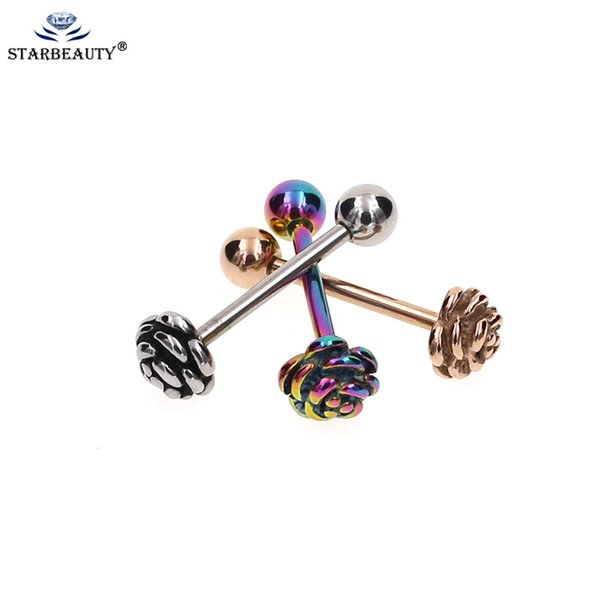1Pc Surgical Steel different Colors Tongue Rings 1.6*16mm tongue piercing  Jewelry Hot Body Jewelry Ho
