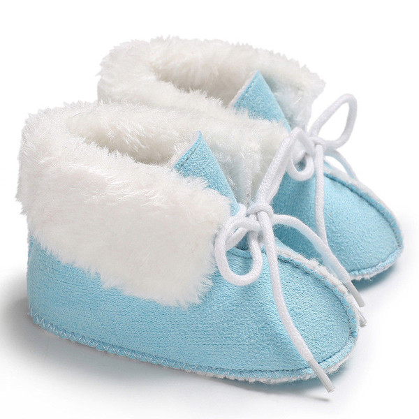 Toddler Baby Boys Girls kids newborn casual cotton Winter Warm Crib Shoe Slip-on Soft Mocassin Shoes one pairs