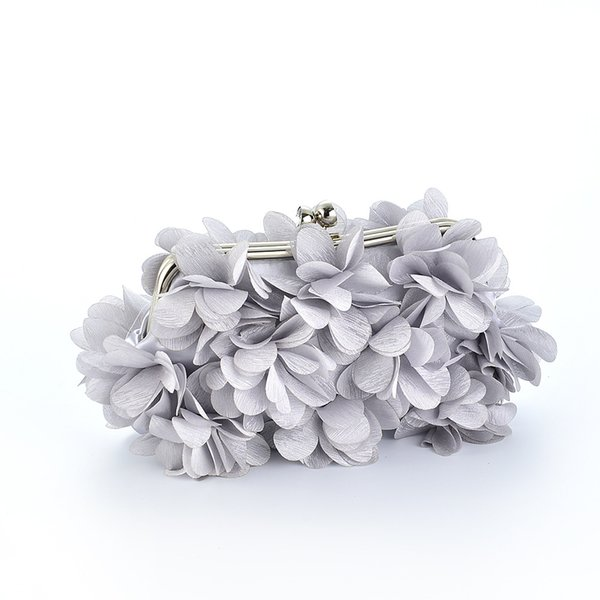 Mode Seidenblume Diamant Frauen Abendtaschen Bankett Braut Hochzeit Clutch Elegante Dame Handtasche Einfarbig Umhängetasche LZ