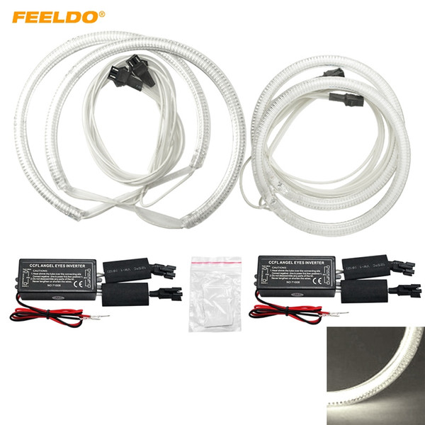 FEELDO 4pcs/Set Special Car CCFL Halo Rings Angel Eyes LED Headlights for Ford Focus 08+ DRL #3086