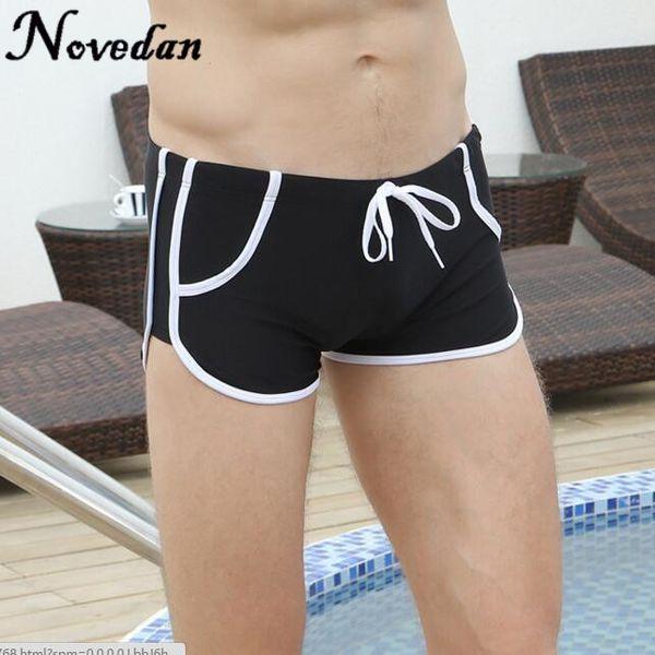 c4e0b7ac368aa 2017 New Swimwear Men Breathable Men's Swimsuits Sexy Swimming Trunks Hot  Boxer Briefs Sunga Swim Suits