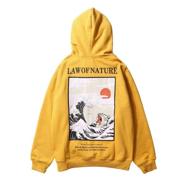 Broderie Drôle Chat Vague Imprimé Polaires Sweats À Capuche Hiver Hip Hop Casual Sweatshirts Streetwear