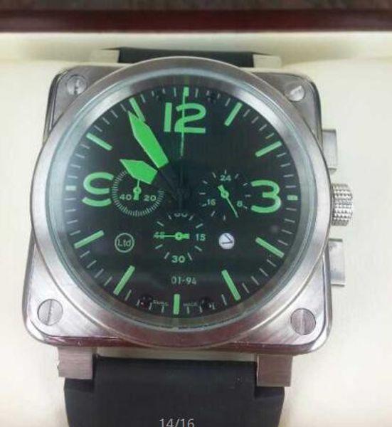 business man quartz timed men's wear wristwatches square brand best black rubber case Silver Dial Black modern men's stopwatches
