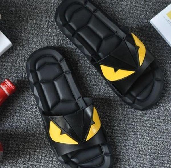 2017 Eye Monster Летняя мужская обувь вьетнамки для свободных мужчин пляжные тапочки, резиновые шлепанцы массажные сандалии для мужчин на открытом воздухе A7030101