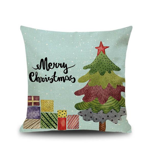 Santa Design Christmas Cushion Cover Christmas Throw Pillowcase Linen  Cushion Cover 45CM Size Cute Cartoon Santa Claus Bed Sofa Car Decor  Waterproof ...