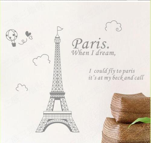 Gorgeous Paris Eiffel Tower Removable Wall Stickers Romantic I Love Paris  Wall Decorations Living Room Wall Decals Sticker Walls Stickers Decor From  ...