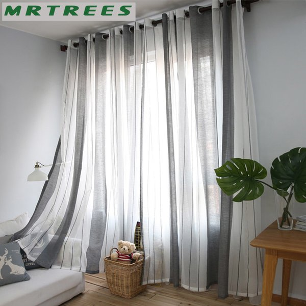 2019 MRTREES Sheer Curtains Window Curtain For Living Room Bedroom Kitchen  Modern Tulle Curtains Fabric For Window Treatment Drapes From Mehome, ...
