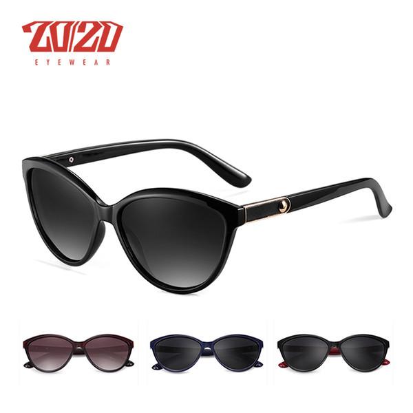 20 20 Marca de Design Olho de Gato Mulheres Óculos De Sol Polarizados  Óculos de Sol Feminino Estilo Vintage Shades Óculos Feminino Oculos PL338 6eacc88cd2
