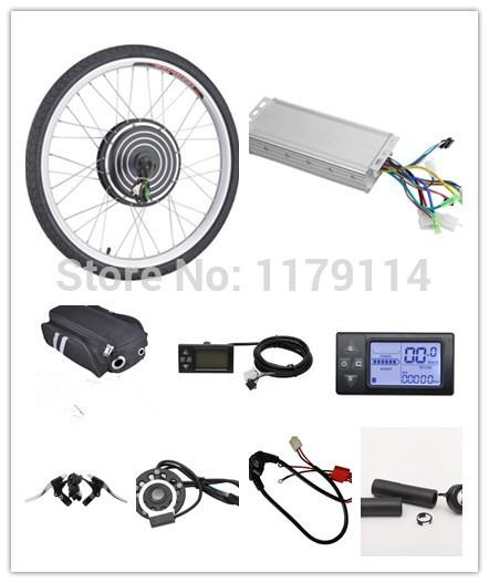 "best selling Free shipping LCD display 48v1000w e-bike FRONT kit , electric bike conversion kit,e-bike kit for 20"" 24"" 26"" 700C 28"""