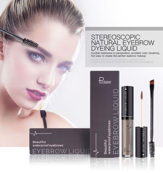 Pudaier Waterproof Eyebrow Gel Long Lasting Make Up Tint Henna Shade For Natural Eye Brow Enhancer Brand Makeup Cream Cosmetic