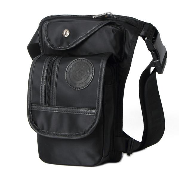 New Men Waterproof Nylon Travel Riding Motorcycle Cross Body Messenger Shoulder Belt Fanny Pack Waist Thigh Leg Drop Bag