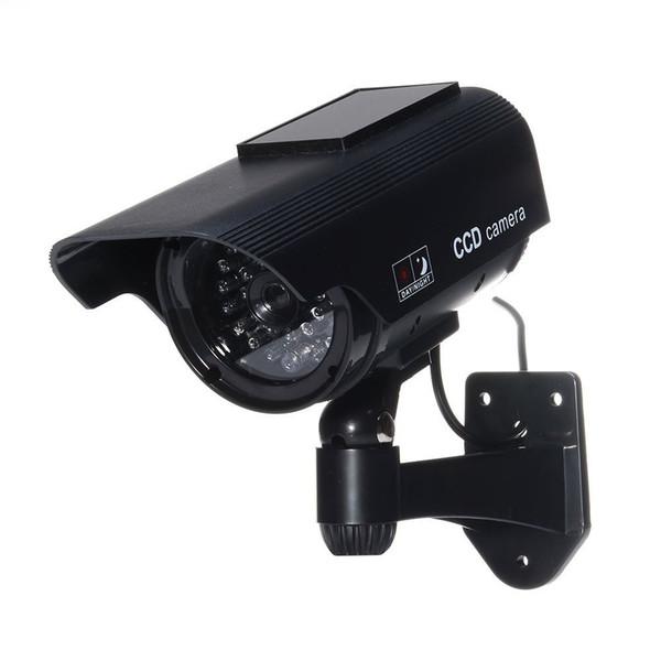 MOOL Fake Security Camera - Heavy Duty - Night Vision Look Solar Power (Black)