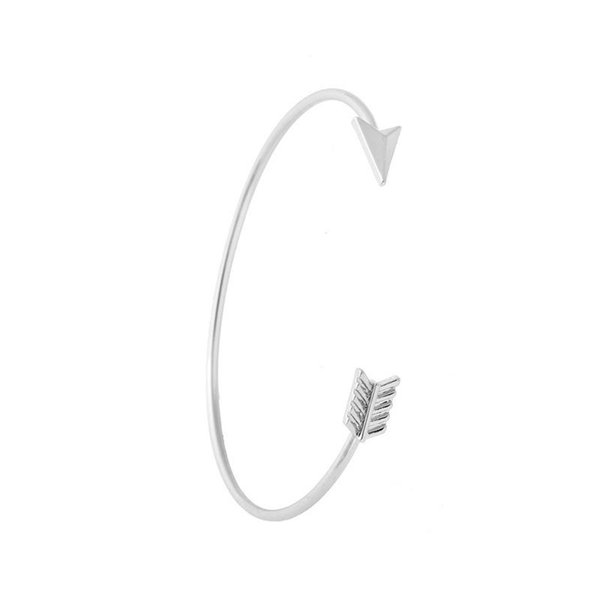Newest Women Fashion Minimalist fine opening Copper cuff friendship bracelets arrow Bangles best gift for girlfriend jl-249