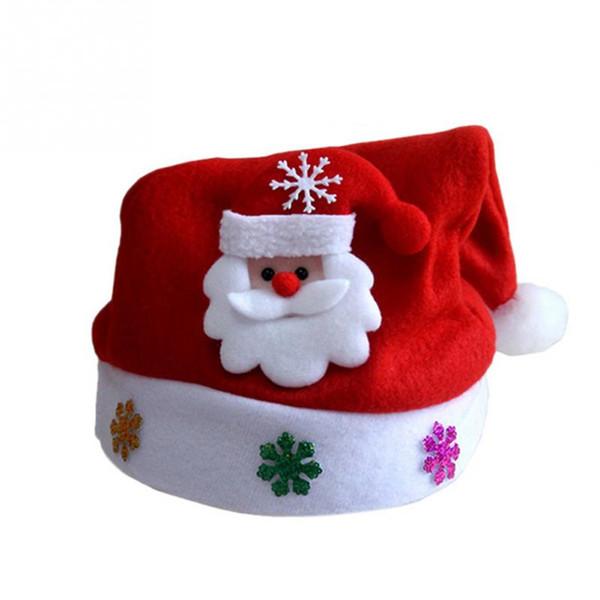 Kids Cheer Christmas Hat Kinder Weihnachtsmann Rentier Schneemann Party Cute Cap Xmas Supplies
