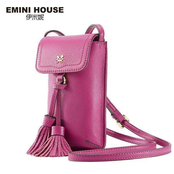 Emini House 8 Farben Echtes Leder Quaste Handytasche Vintage Frauen Umhängetaschen Umhängetaschen Für Frauen Mini Umhängetasche