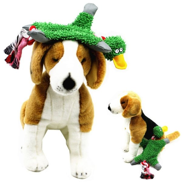 32*19cm Pet Supply Cute Papa Duck Plush Dog Toy with Rope Pet Supplies Dog Toys Chews