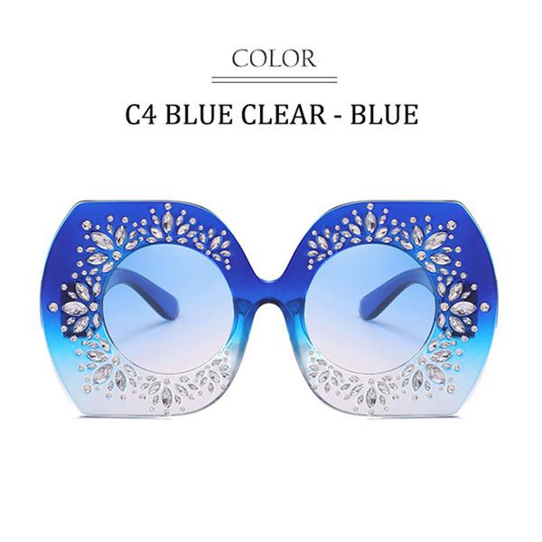 C4 Blau Klarer Rahmen Farbverlauf Grau